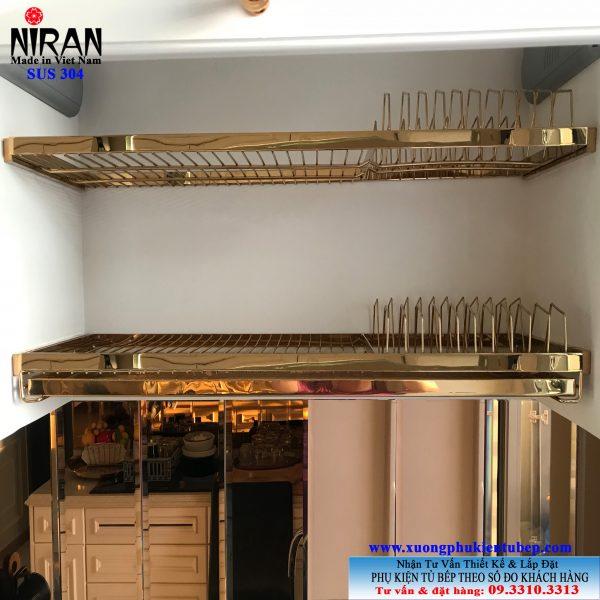 Kệ chén dĩa âm tủ Niran inox 304