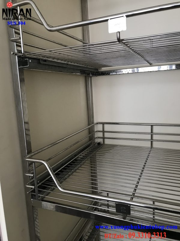 Kệ tủ đồ khô 6 tầng Niran inox 304