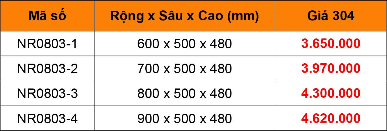 Bảng giá Kệ Xoong Chảo Inox 304 Niran NR0803