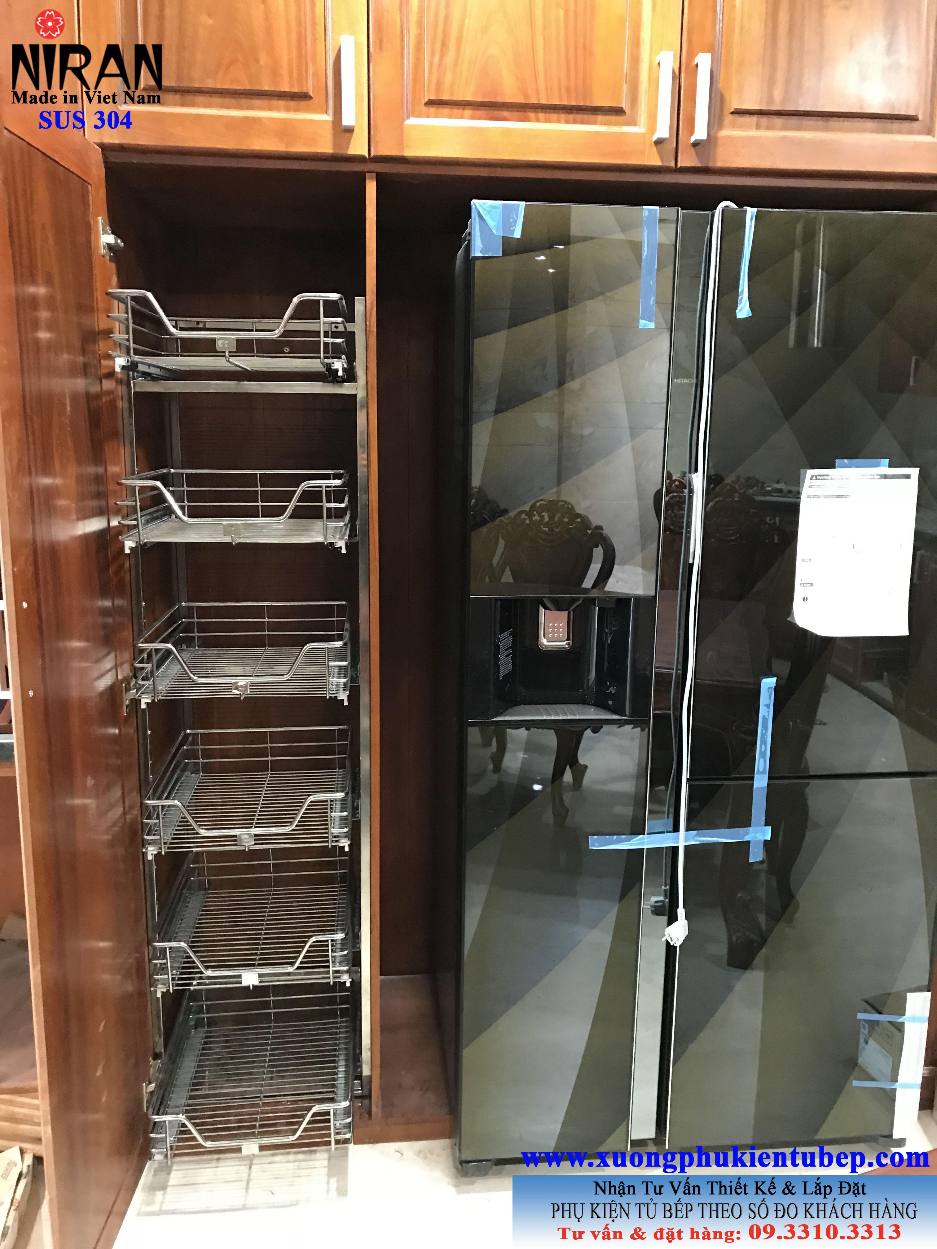 Kệ tủ đồ khô 6 tầng inox 304 Niran NR0401
