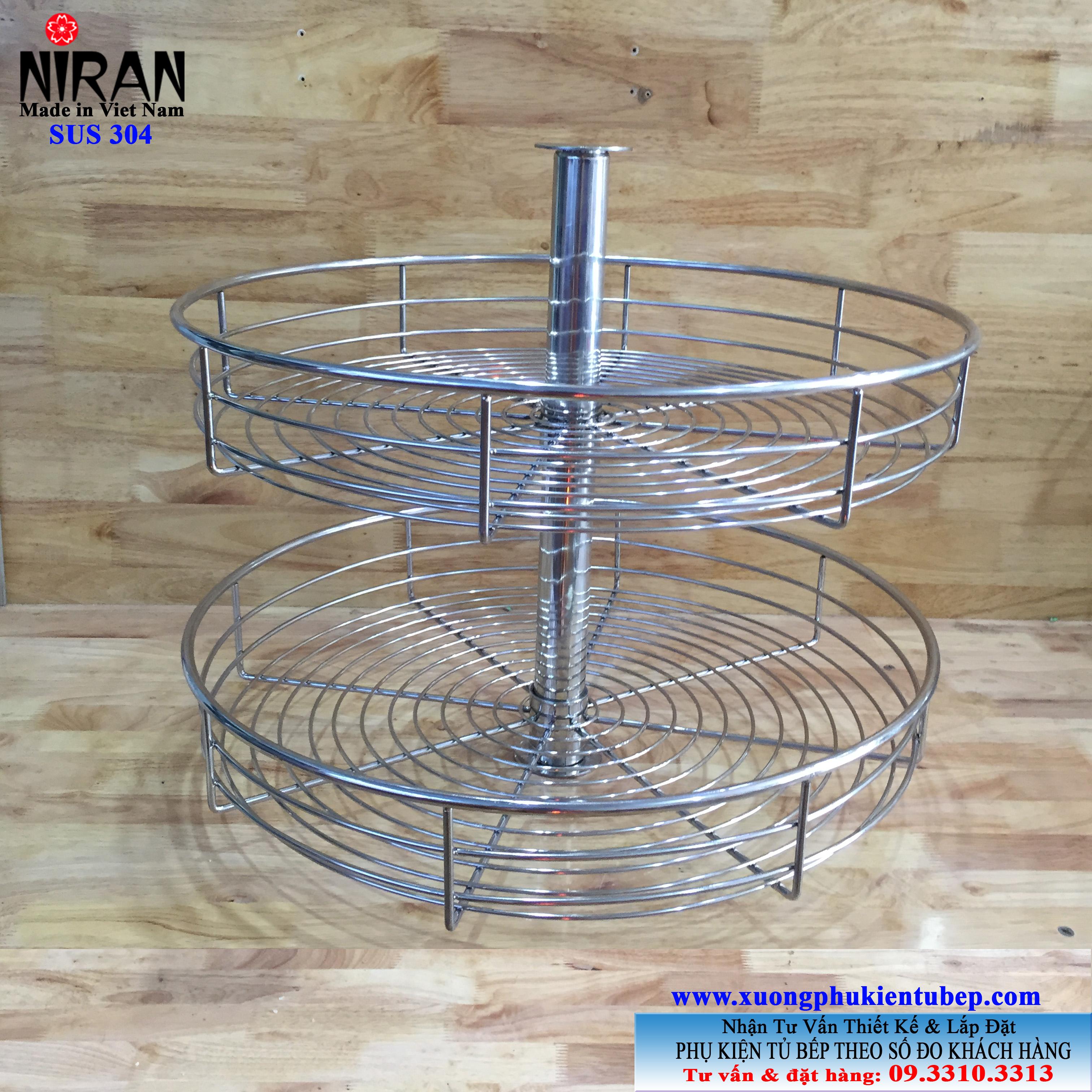 Mâm xoay tròn inox 304 Niran NR0701