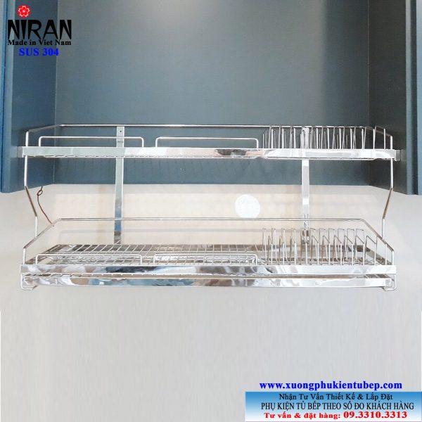 Kệ chén dĩa âm tủ Niran inox 304 NR0104