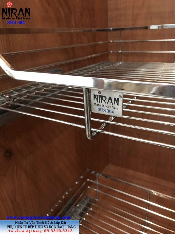 Kệ tủ đồ khô Niran inox 304
