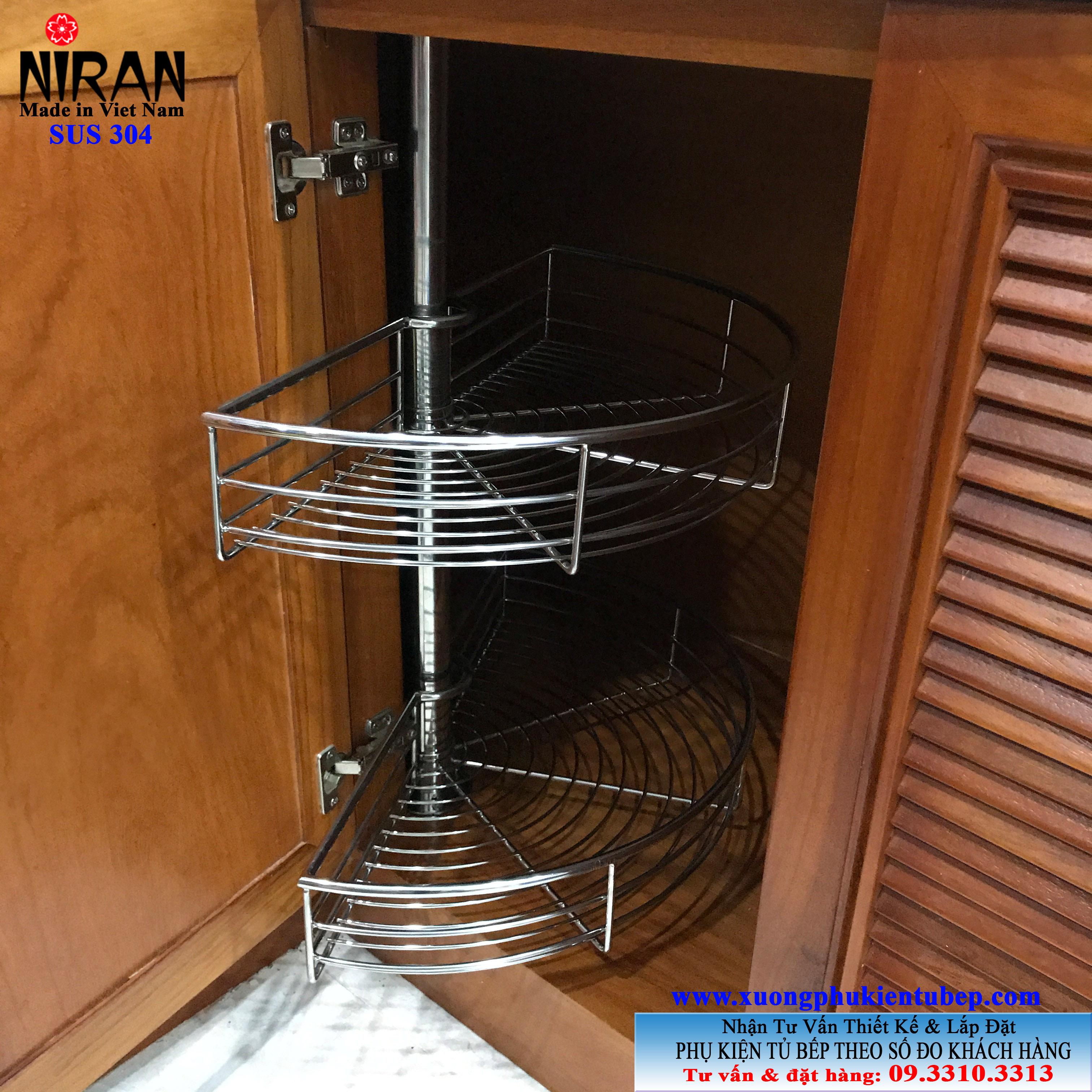 Mâm xoay 1-2 inox 304 Niran NR0703