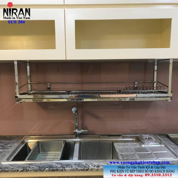 Kệ chén dĩa treo đáy tủ Niran inox 304 NR0603