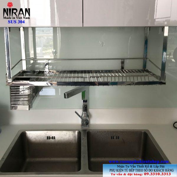 Kệ chén dĩa treo Niran inox 304 NR0604