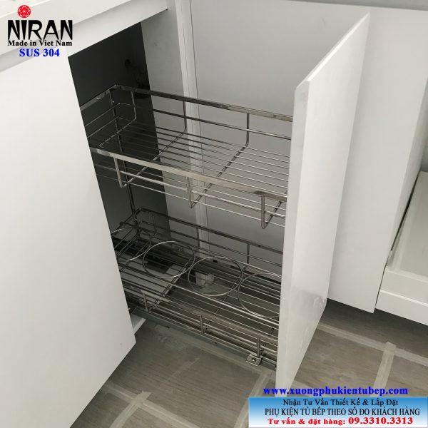 Kệ gia vị bắt mặt hộc Niran inox 304 NR0304
