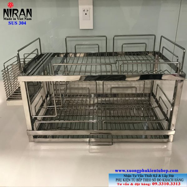 Kệ úp chén dĩa đứng inox 304 Niran NR1001