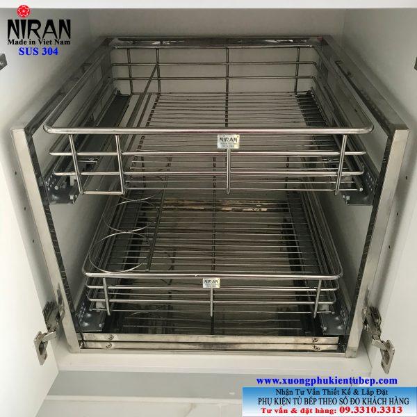 Kệ xoong chảo inox 304 Niran NR0802