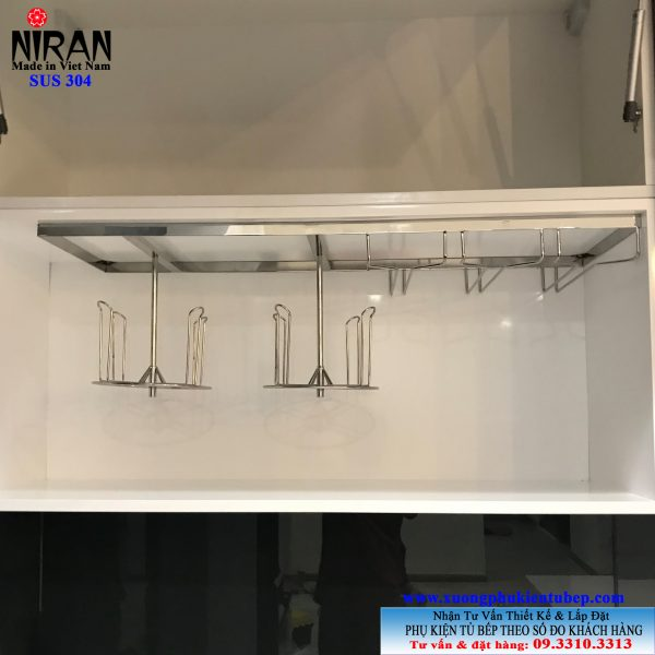 Kệ treo ly inox 304 Niran NR0504