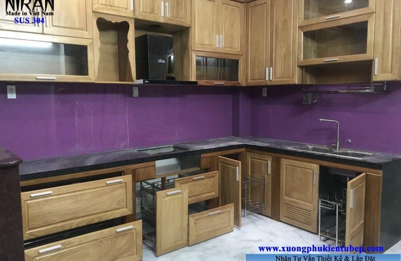 Hình ảnh thực tế phụ kiện tủ bếp Niran nhà khách hàng ở Q.Phú Nhuận
