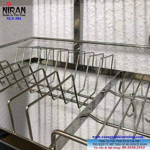 Kệ chén dĩa âm tủ Niran inox 304 nr0106