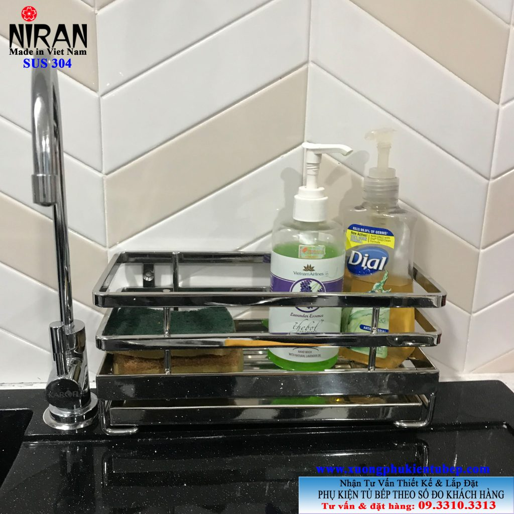 Kệ đựng nước rửa chén inox 304 Niran