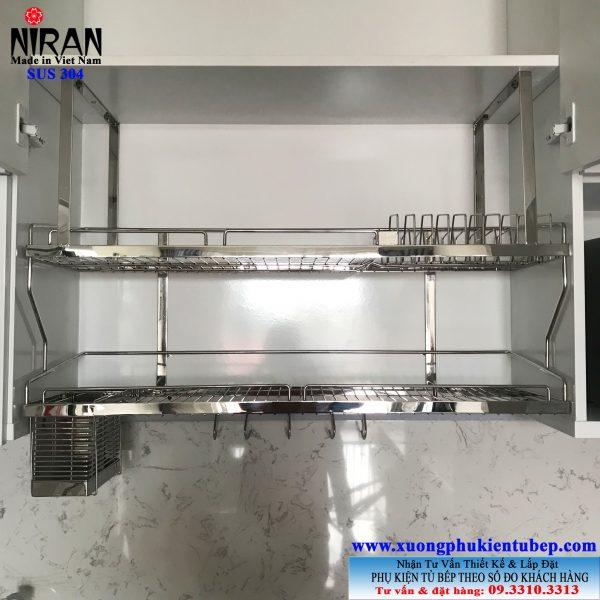 Kệ chén 2 tầng treo Niran NR0608