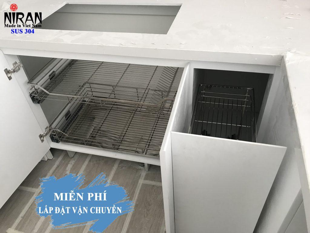 Thiết kế lắp đặt phụ kiện tủ bếp