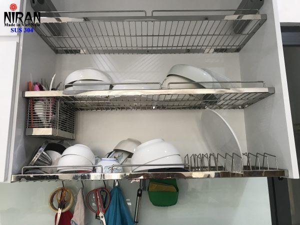 kệ đựng chén âm tủ 3 tầng