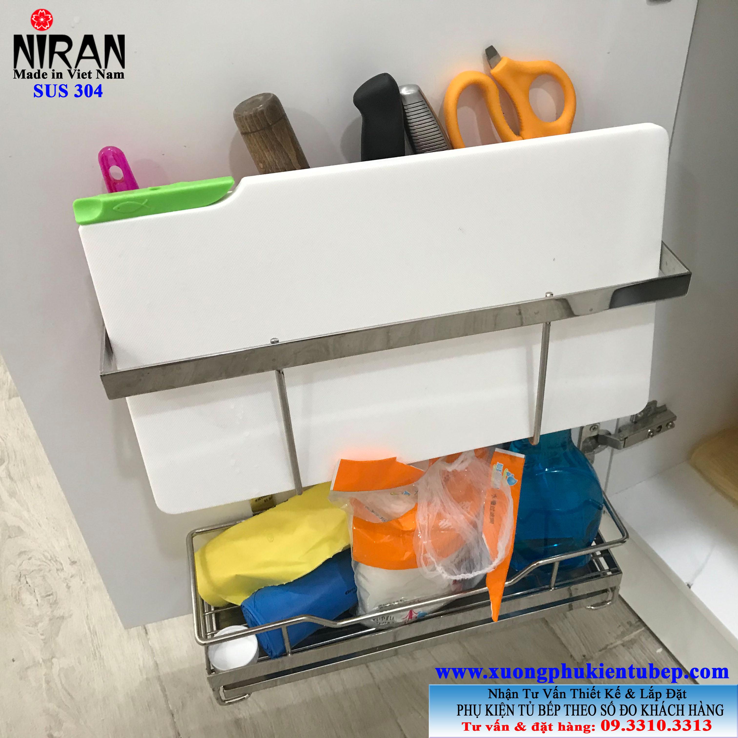 Kệ để dao thớt treo cánh cửa Niran NR3003