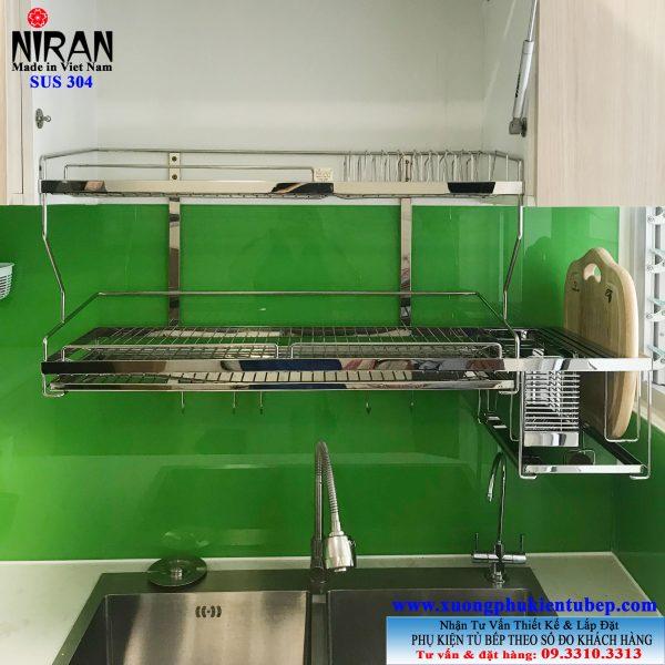 Kệ chén dĩa đa năng 2 tầng inox 304 Niran NR0610