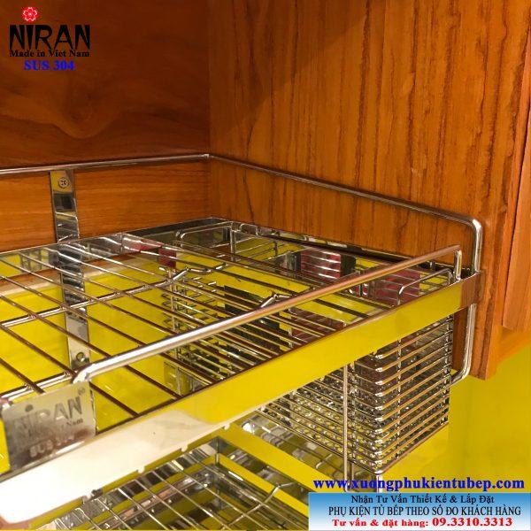 Kệ úp chén dĩa 2 tầng inox 304 Niran NR0609