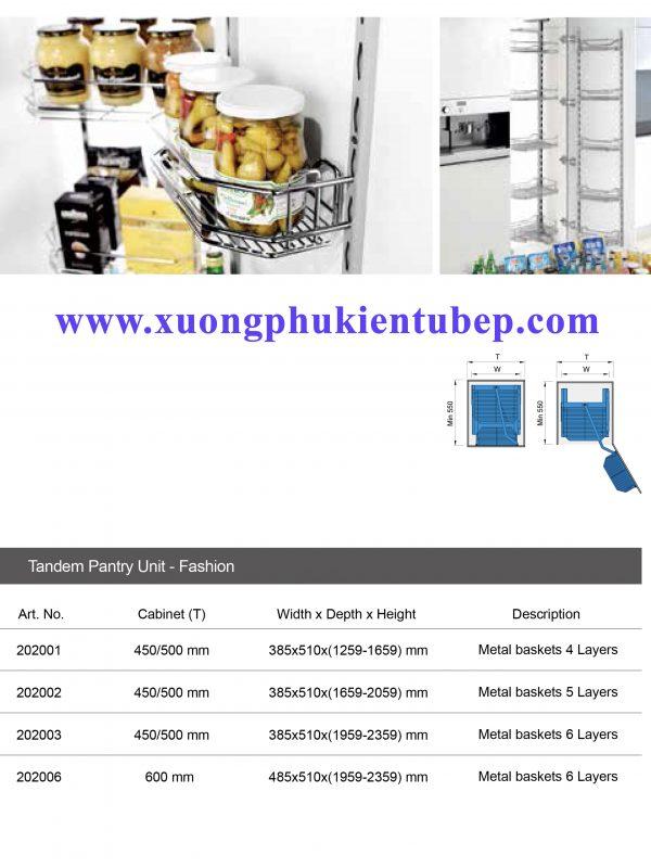 thông số Kệ kéo tủ đồ khô Higold ( 202003, 202006 )