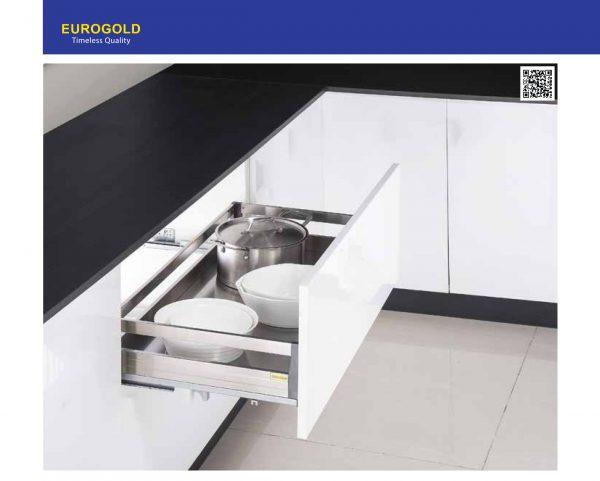 Giá xoong nồi EU130.600 inox hộp 2 lớp đáy, gắn cánh – Eurogold