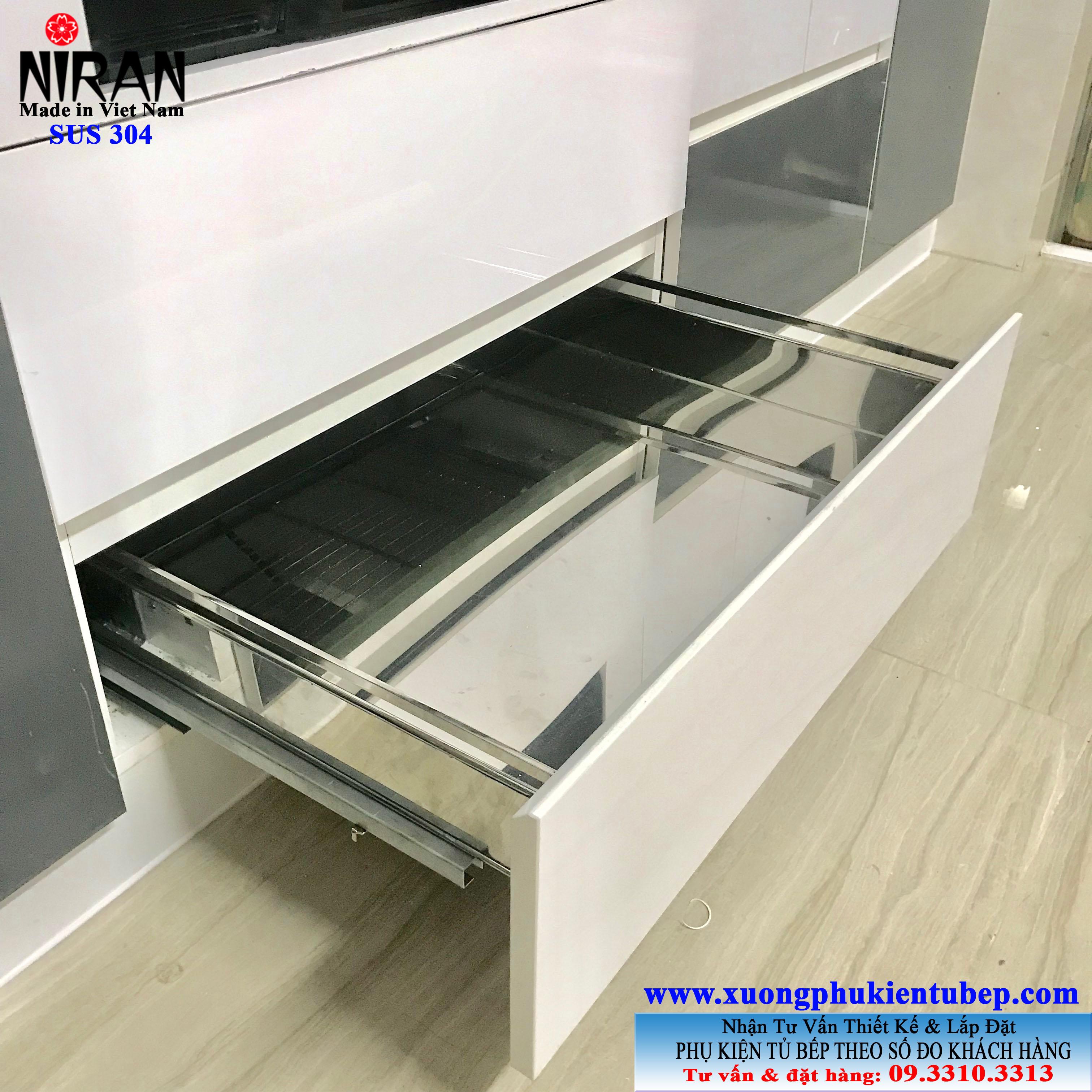 Khay đựng xoong nồi inox 304 Niran NR0207
