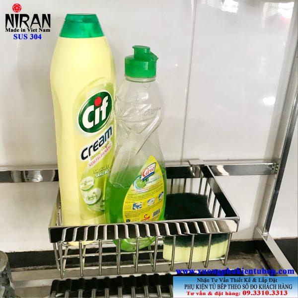 Kệ để chai nước rửa chén inox 304