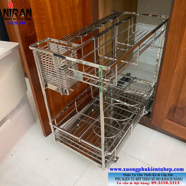 Kệ đựng gia vị trong tủ bếp inox 304