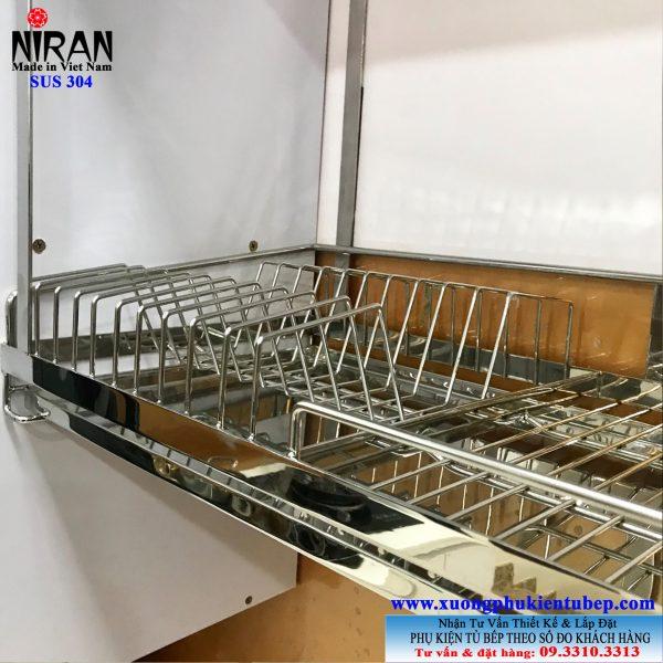 Kệ chén dĩa treo đáy tủ inox 304 Niran NR0613
