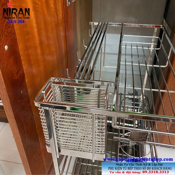 Kệ gia vị âm tủ bếp inox 304