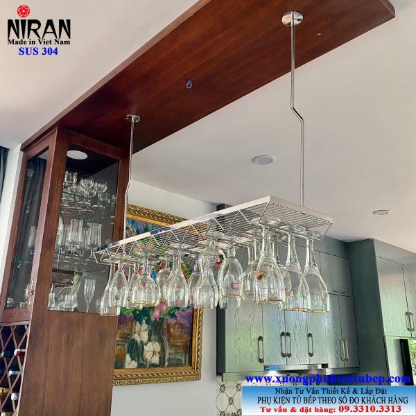 Giá treo ly inox 304 Niran