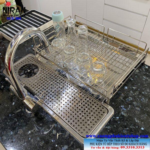 Khay đựng ly uống nước inox 304