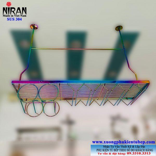 Gia treo ly ruou inox 304 Titan Niran NR0521